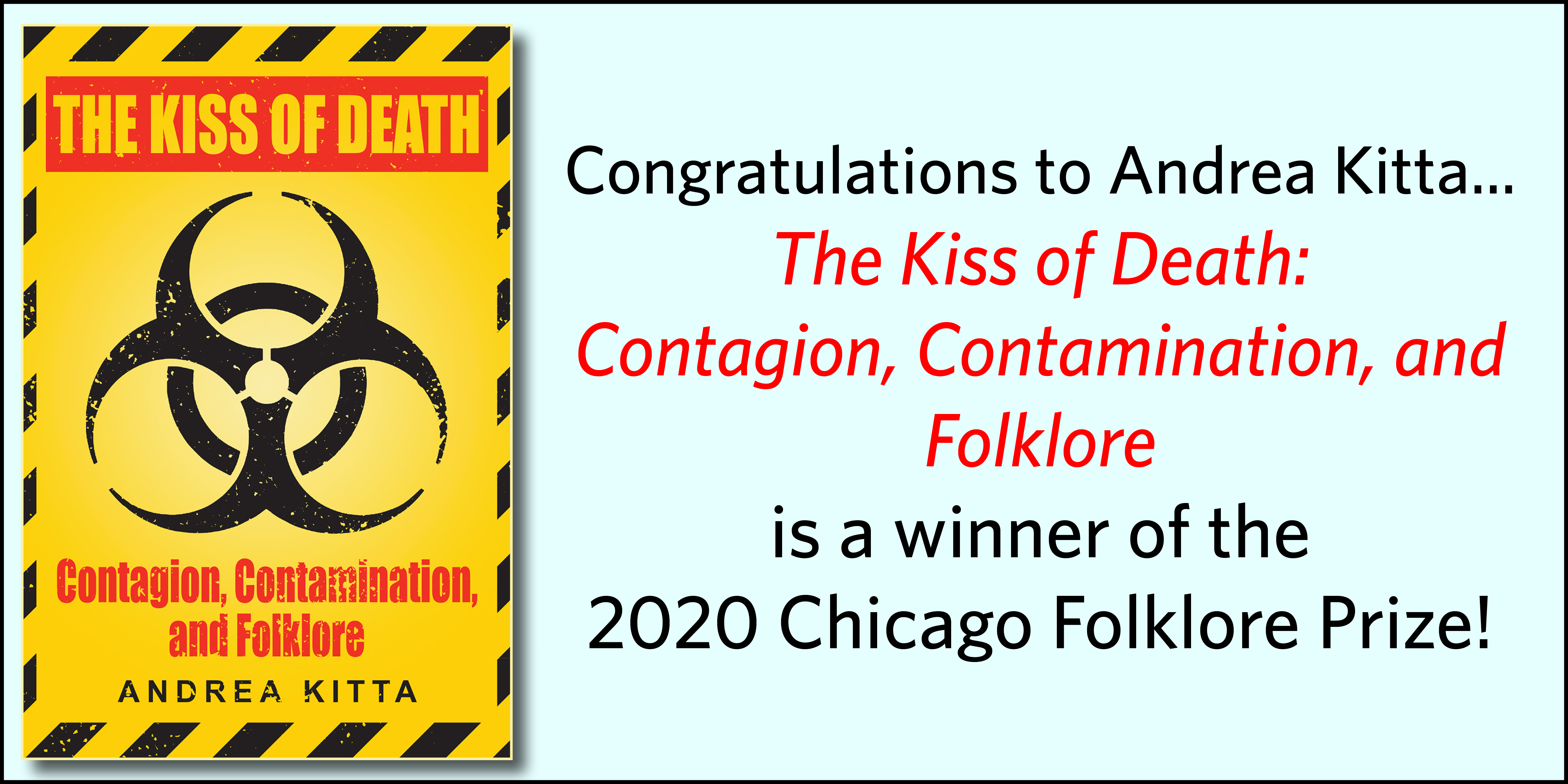 Kiss of Death wins the Chicago Folklore Prize!