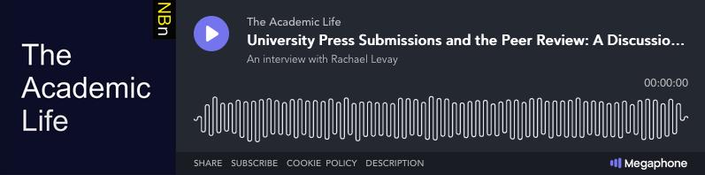 Rachael Levay on New Books Network