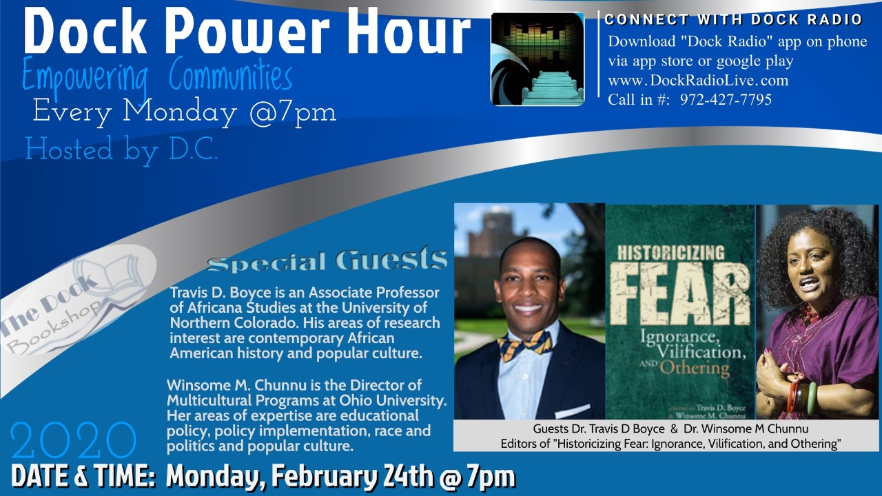 Travis D. Boyce and Winsome Chunnu to be featured on The Dock Power Hour!
