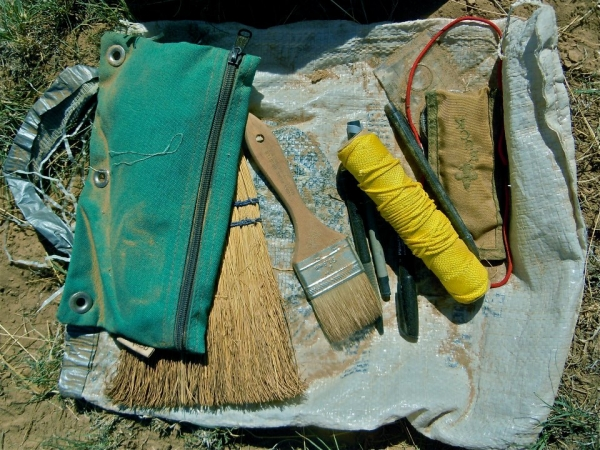 An archaeologist's toolkit.