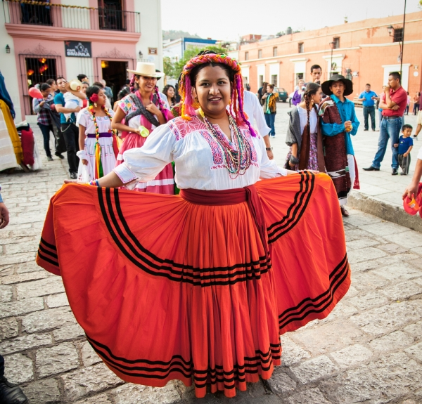 Celebration of the Day of the Virgin of Guadalupe (Dia de la Virgen de Guadalupe) on December 10, 2015, in Oaxaca, Mexico.