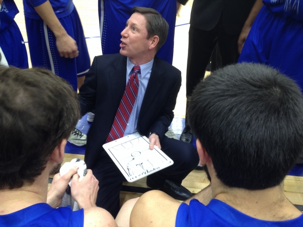 Chris Faulker, University of North Georgia head basketball coach, October 2015 game between UNG and Clayton State University.