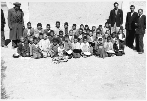 Rural Iranian school, early 1950s. Courtesy, Richard Welling Roskelley Photograph Collection, Special Collections and Archives, Merrill-Cazier Library, Utah State University, Logan.