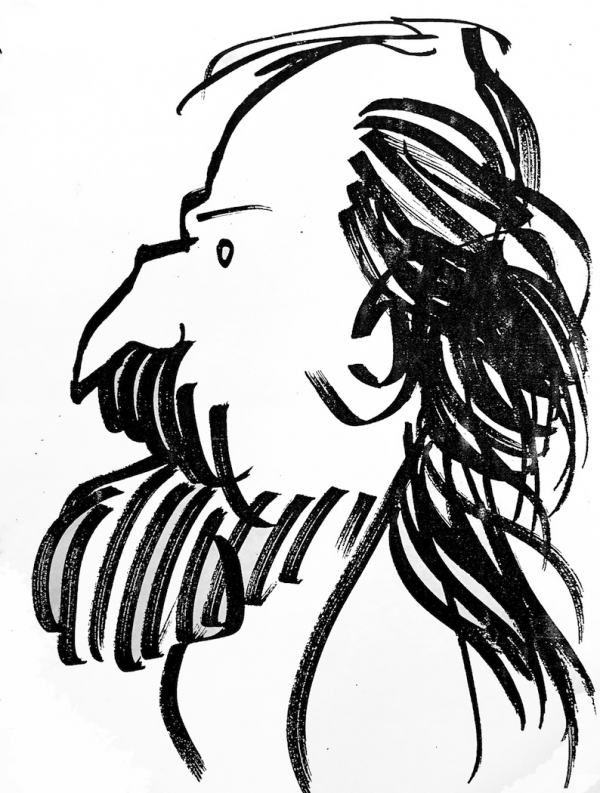 Drawing by Bob Harvey, artist who retired from NCTE. RCHarvey.com
