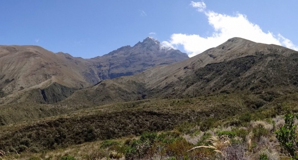 This mountain in Ecuador, which is known locally as Mama Cotacachi, used to be capped by a glacier that was a dependable source of ice and water for nearby communities.